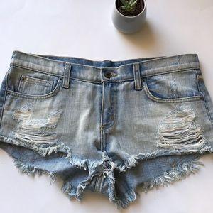 Carmar distressed jean shorts 29